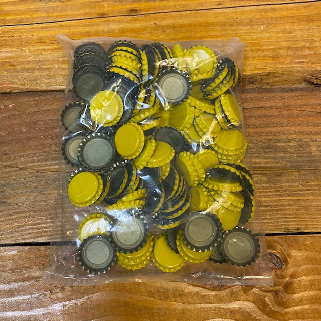Crown Caps - Yellow - Standard 26 mm - Oxygen Absorbing - 144 ct.