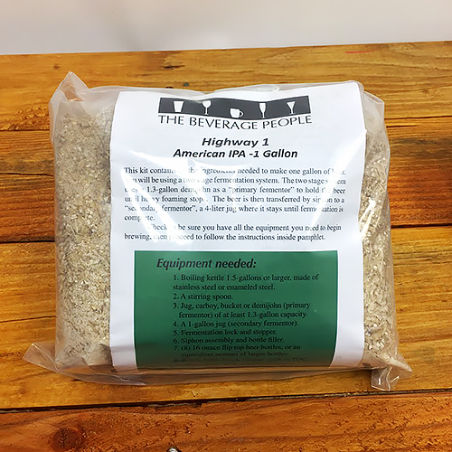 Highway 1 India Pale Ale one-gallon all grain ingredient kit