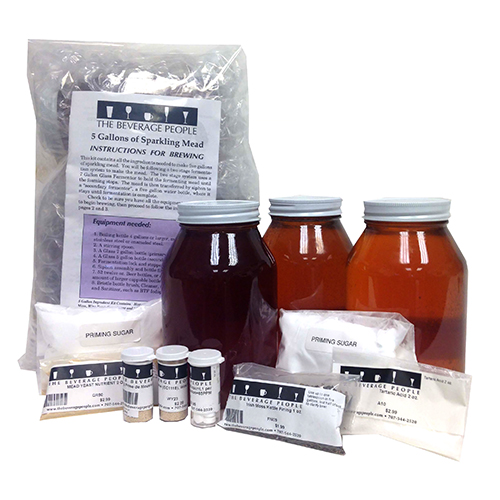 Meadmakers Ingredient Kit Sparkling Mead - 5 gallons