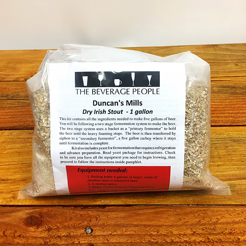 Duncan's Mills Dry Stout one gallon all grain ingredient kit