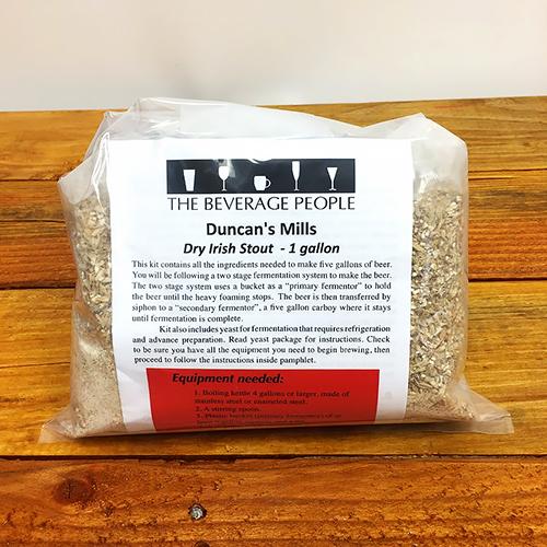 Duncan's Mills Dry Stout one gallon all grain ingredient kit