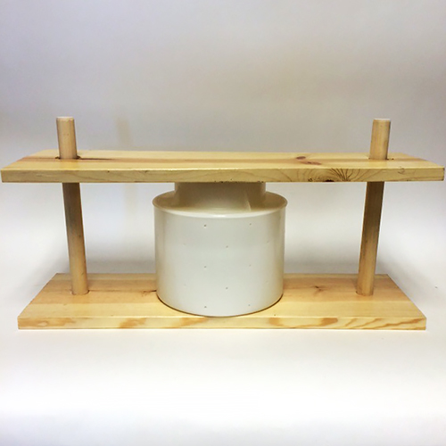 Cheese Press, Sonoma Style, wood with polyurethane finish (add your own weights)