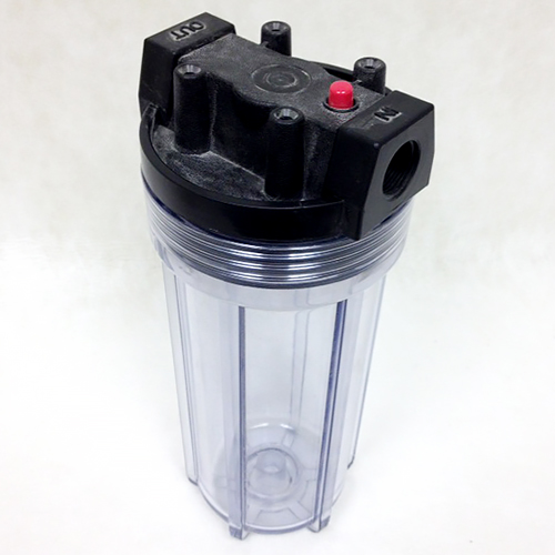 Filter Housing - 10 inch - Clear Plastic with 1/2 NPT