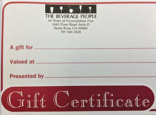 Gift Certificate Dollars