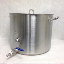 Kettle - Brewpot Heavy Duty 60 qt with Cover and 1/2 S/S Ball Valve and 1/2 Hose Barb