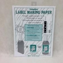 Label Making Paper, White, 18 sheets