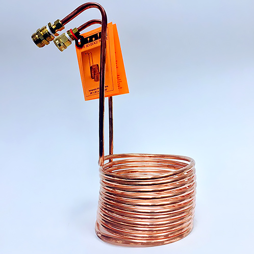 WORT CHILLER 3/8 X 25 Copper- Immersion with Hose Ends