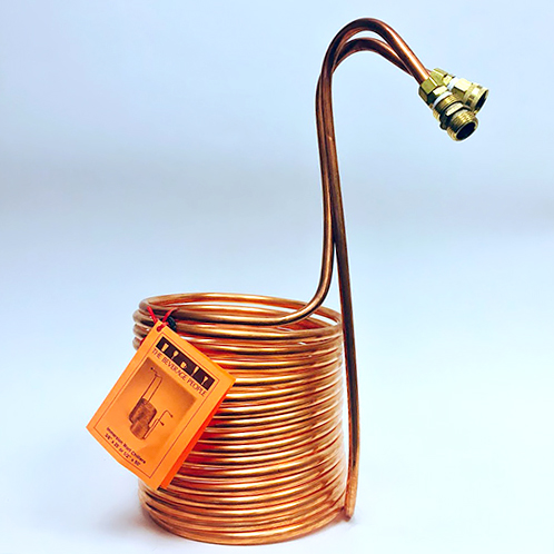 WORT CHILLER 1/2 X 50 Copper - Immersion with Hose Ends