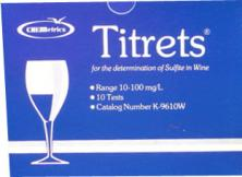 Titrets - Free SO2 Test Kit - Use for White Wines and Cider - 10 tests