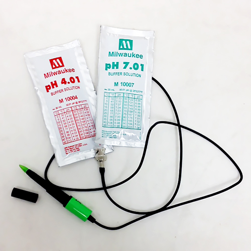 pH Shaft Probe fits Milwaukee MW101/2, 0 -14pH, ATC Excellent for Meat and Cheese.