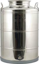 Fusti - 100 Liter -28 gallon - Stainless Fermentor with Valve, Lid, Handles
